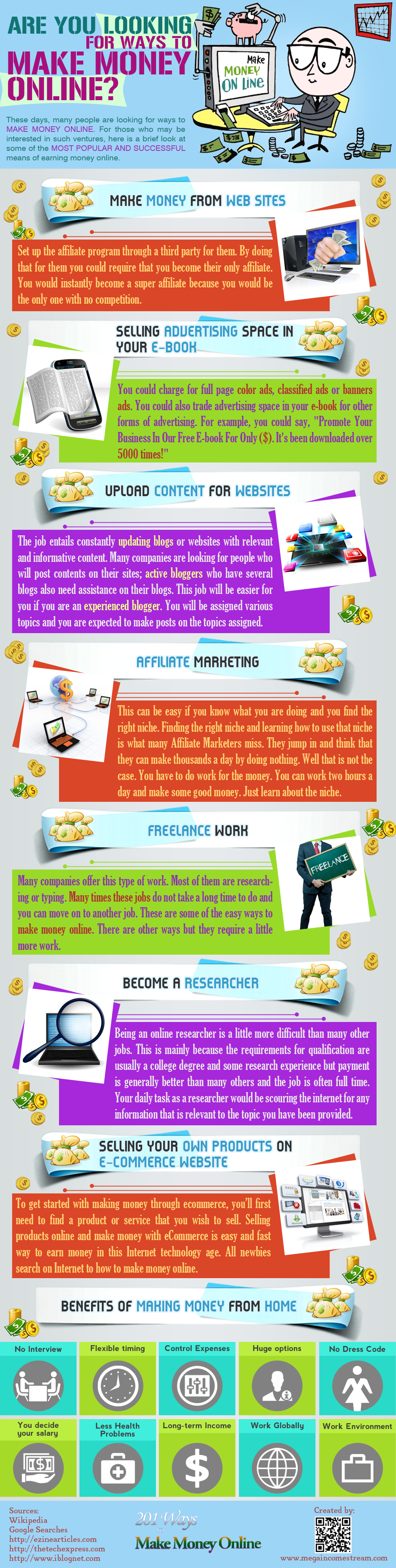 Are You Looking For Ways To Make Money Online - Infographics