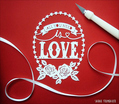 Origami Greeting Cards That Depict Love (14)