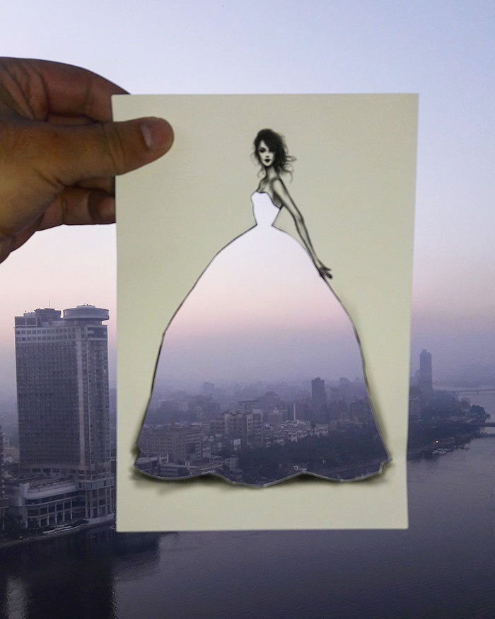 Shamekh Bluwi Uses The Environment To Complete His Fashion Illustrations (1)