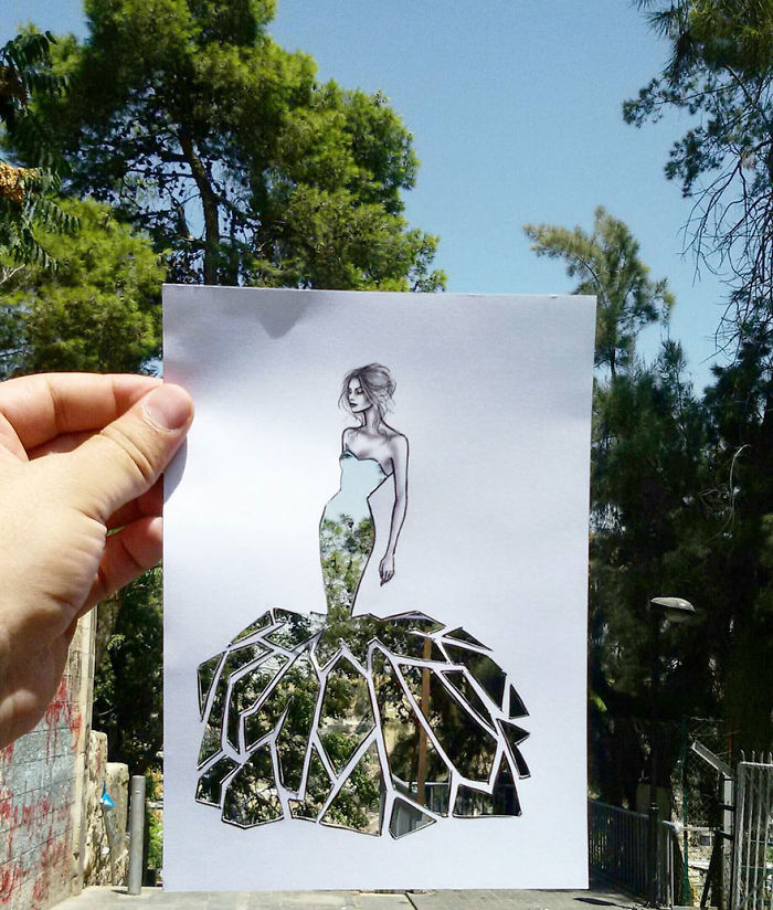 Shamekh Bluwi Uses The Environment To Complete His Fashion Illustrations (13)