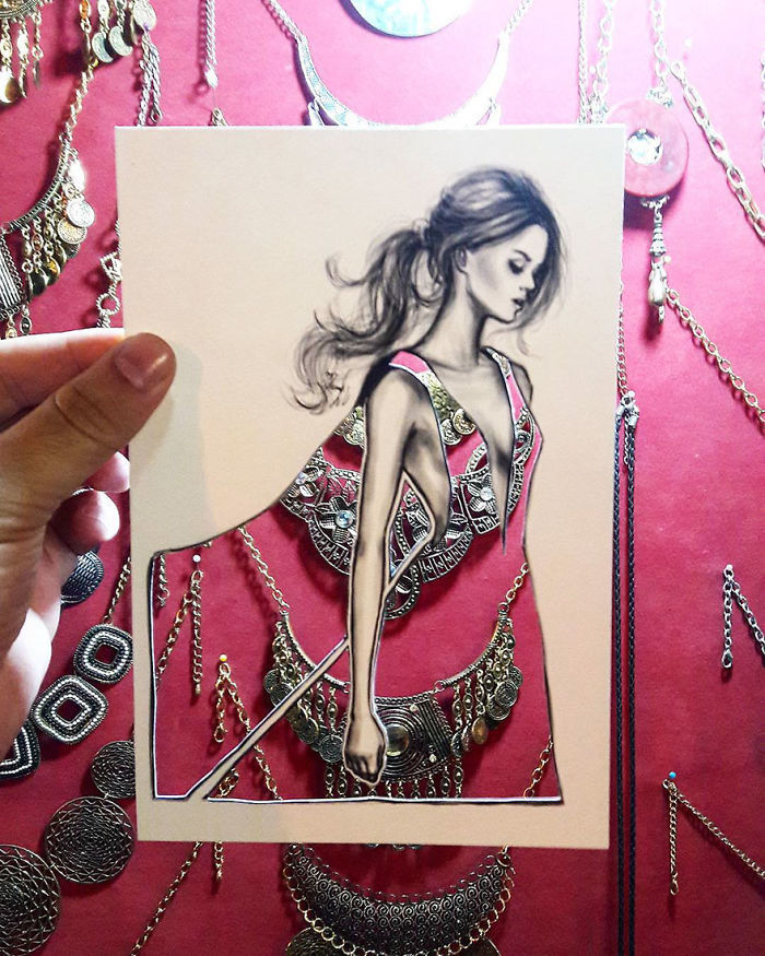 Shamekh Bluwi Uses The Environment To Complete His Fashion Illustrations (4)