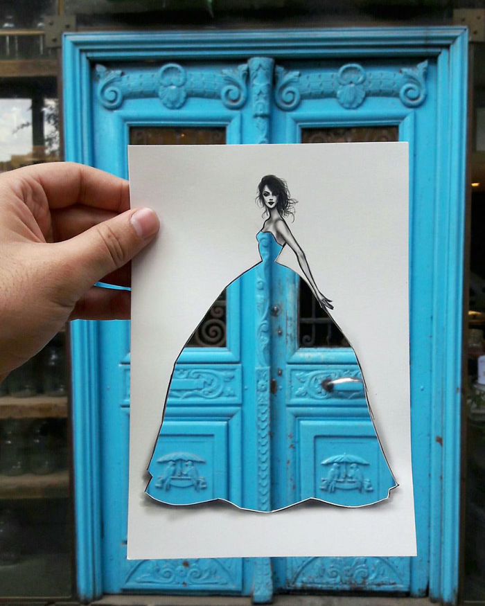 Shamekh Bluwi Uses The Environment To Complete His Fashion Illustrations (7)