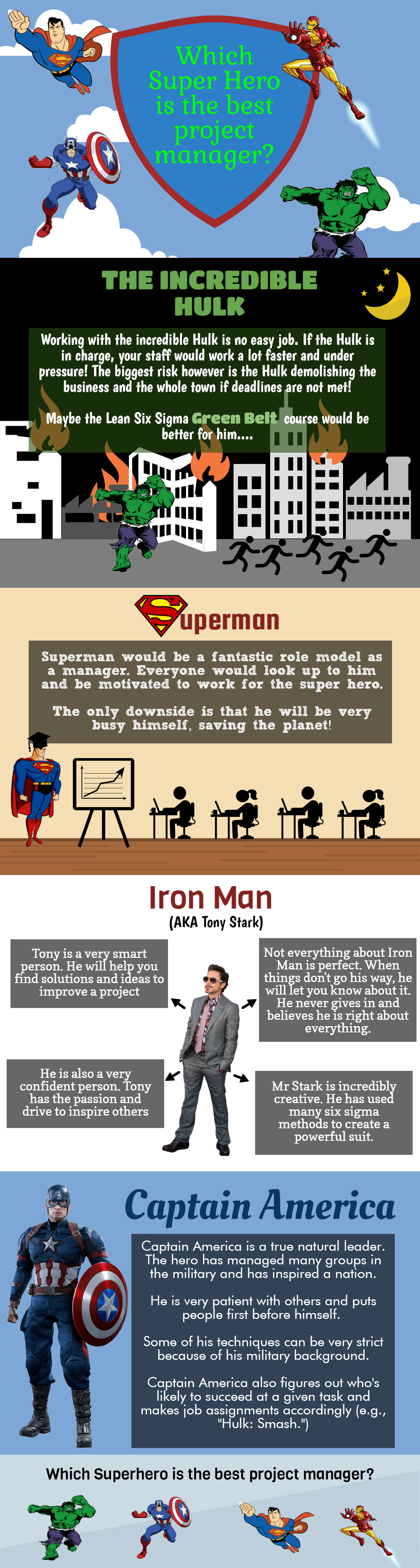 Which Superhero Would Make The Best Project Manager