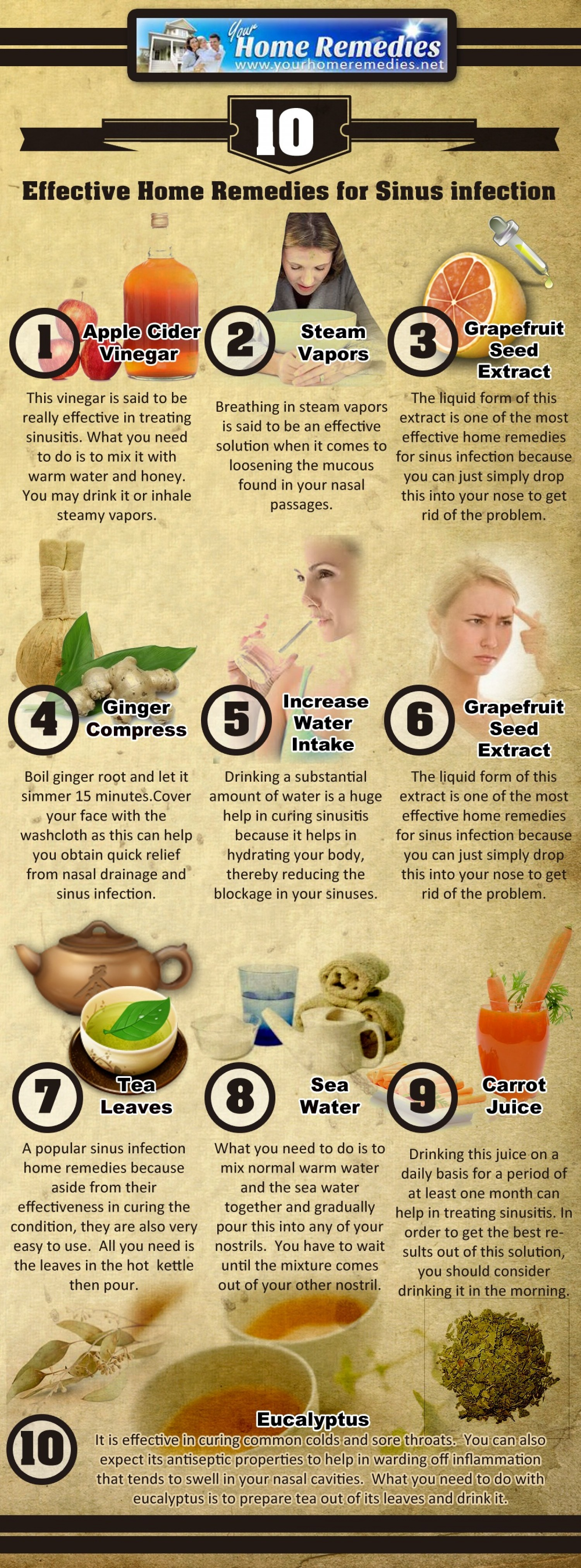 10 Sinus Infection Hacks You Must Try - Best Home Remedies - Infographic