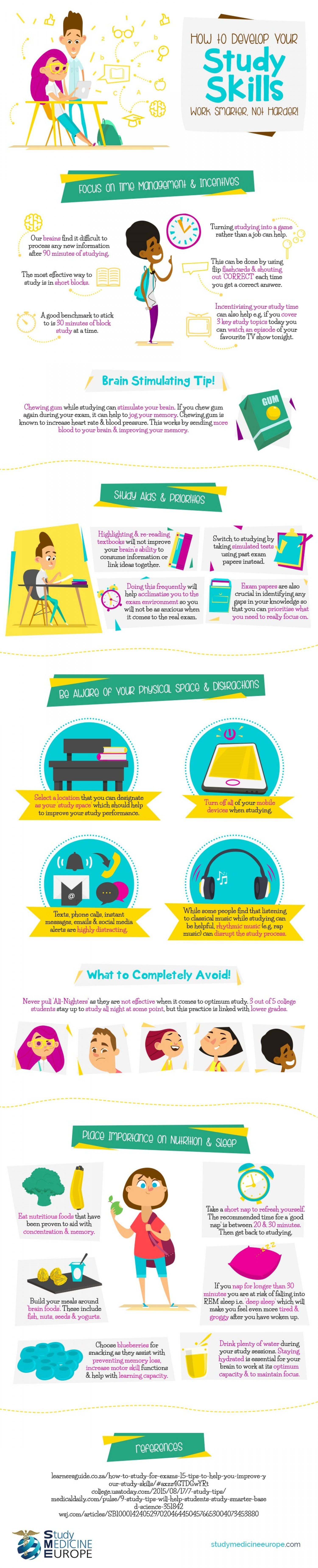 How To Study Smartly With Fewer Efforts - Infographic