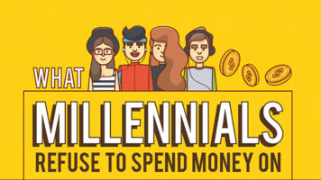 10 Things Millennials Refuse To Spend Money On - Infographic
