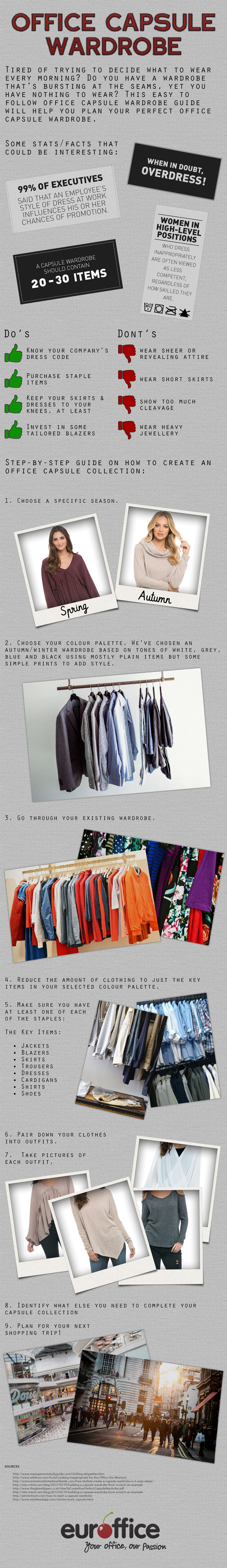 How To Have The Perfect Office Wardrobe - Infographic