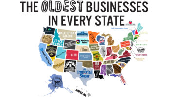 50 States and Their Oldest Businesses - Infographic