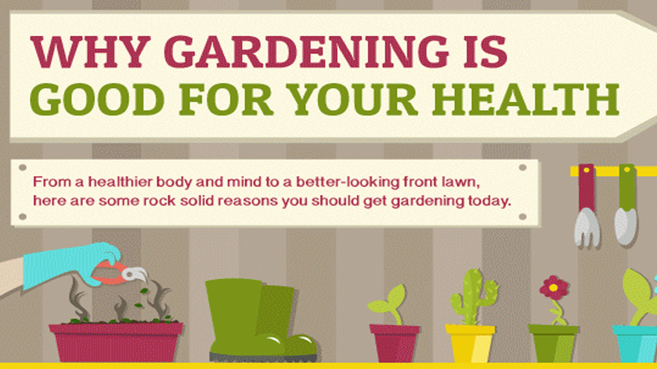 Health Benefits Of Gardening Infographic
