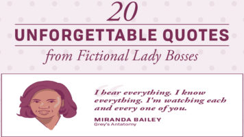Evergreen Quotes Said By Fictional Women Characters - Infographic