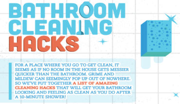 Life Hacks: Cleaning Your Bathroom - Infographic
