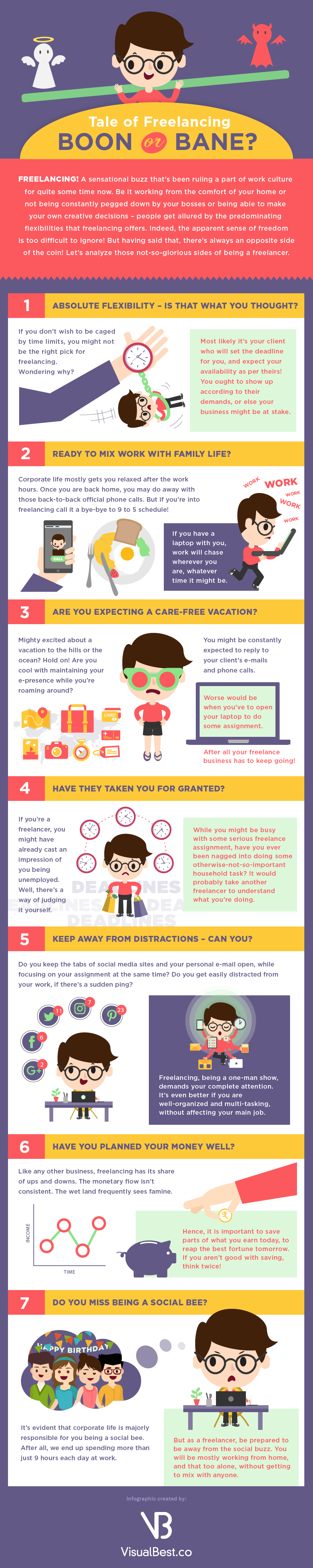 Disadvantages Of Freelancing - Infographic