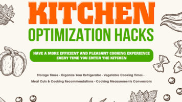 Life Hacks - Making Your Kitchen More Efficient - Infographic