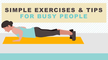A Quick Workout Routine For Busy People - Infographic