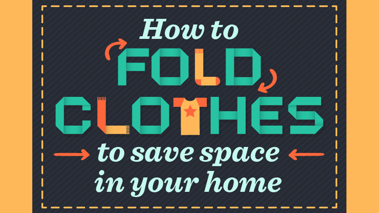 A Space Saving Way Of Folding Clothes Infographic