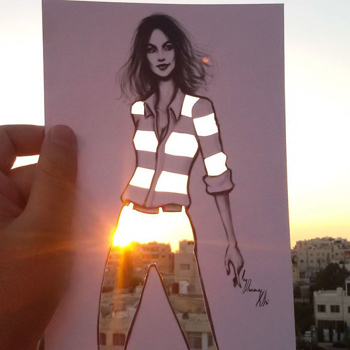 Shamekh Bluwi Uses The Environment To Complete His Fashion Illustrations (12)
