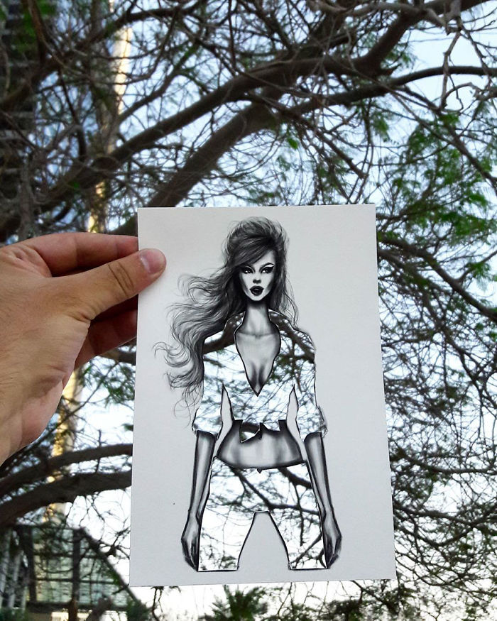 Shamekh Bluwi Uses The Environment To Complete His Fashion Illustrations (2)