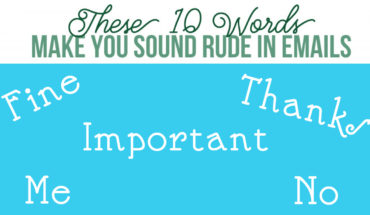 10 Words You Should NEVER Use While Writing E-mails - Infographic
