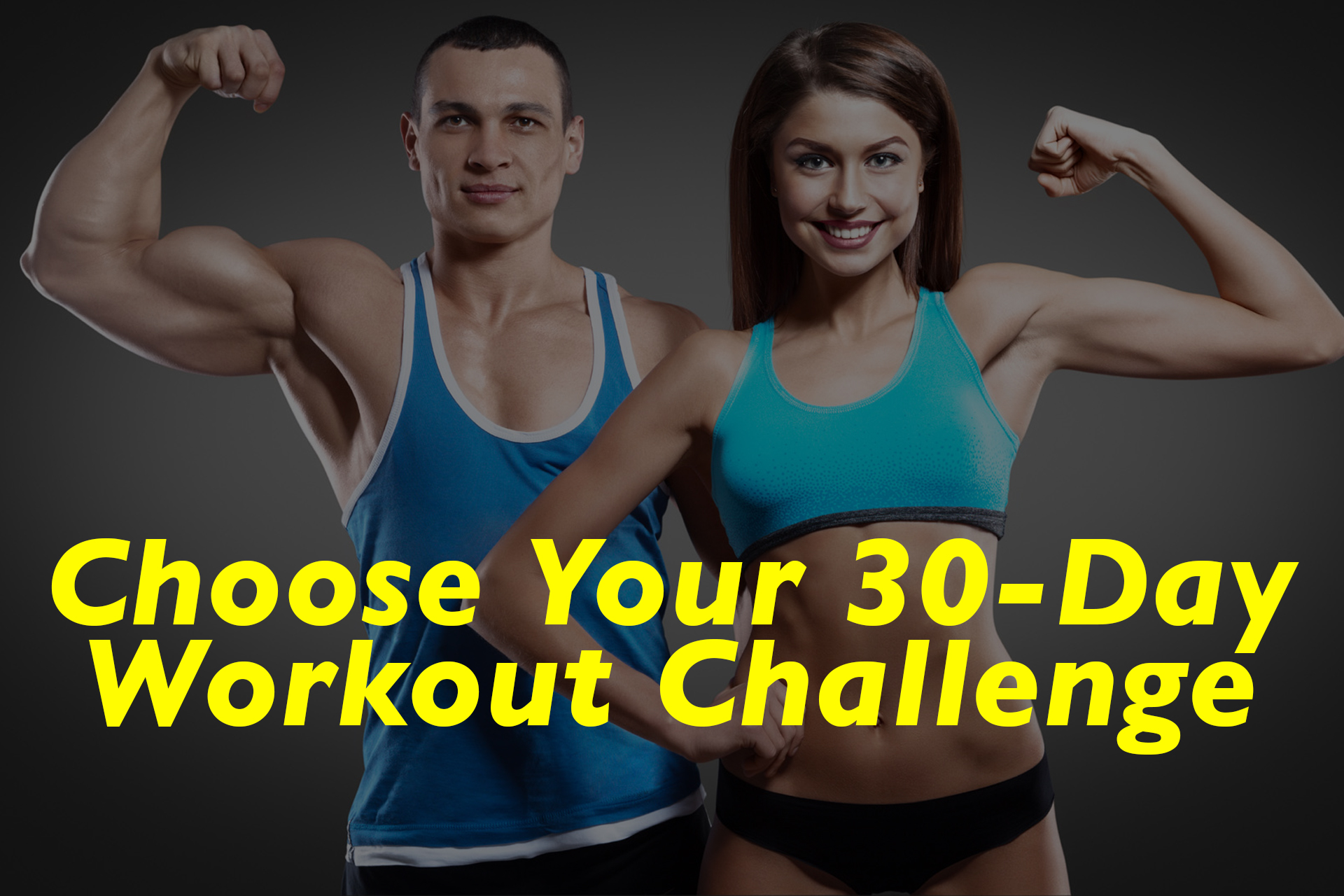 Choose Your 30 Day Workout Challenge 20 Infographics