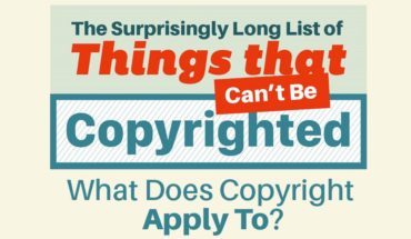 Here's A List Of Interesting Things That CAN'T Be Copyrighted
