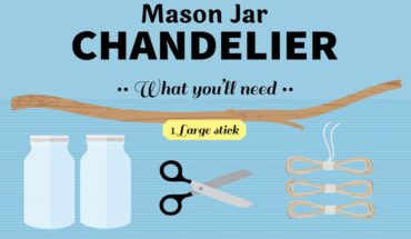 Make A Mason Jar Chandelier In 4 Easy Steps