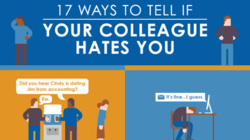 17 Signs Your Co-worker Hates You - Infographic