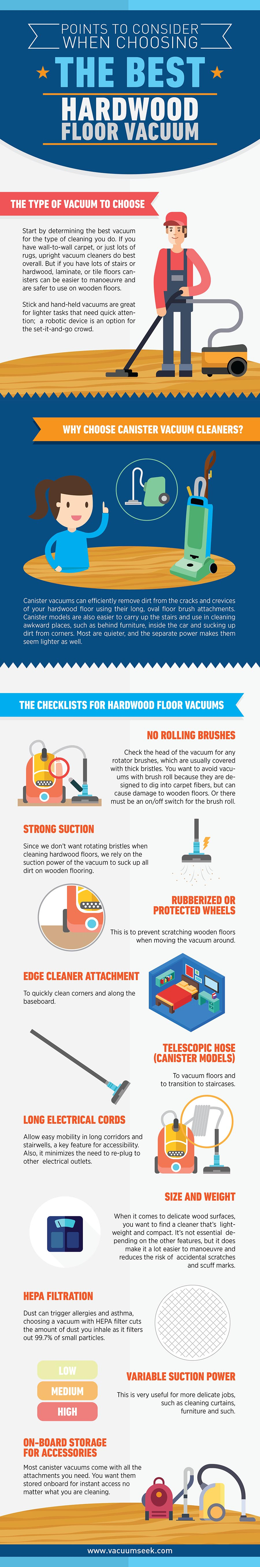 How To Make Sure Your Vacuum Cleaner Doesn't Destroy Your Hardwood Floor - Infographic