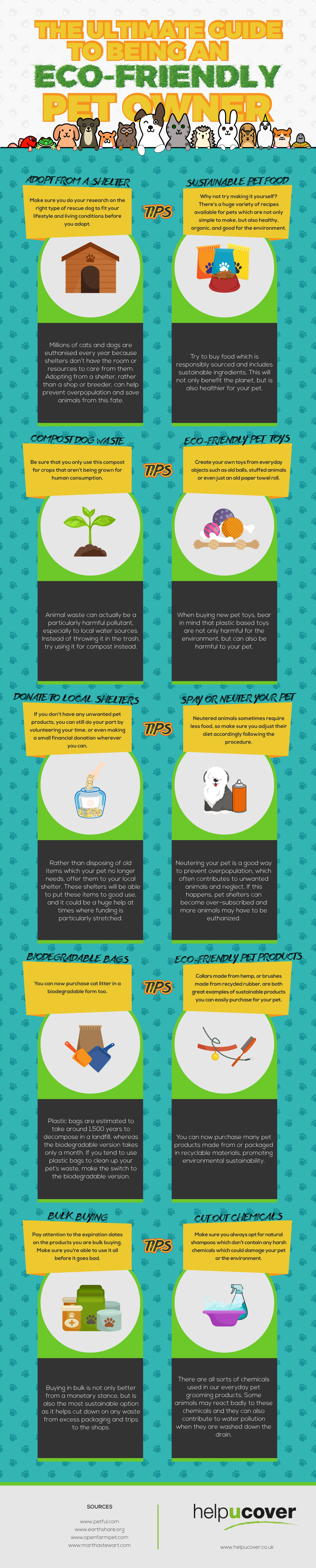 How To Own A Pet And Still Be Eco-friendly - Infographic