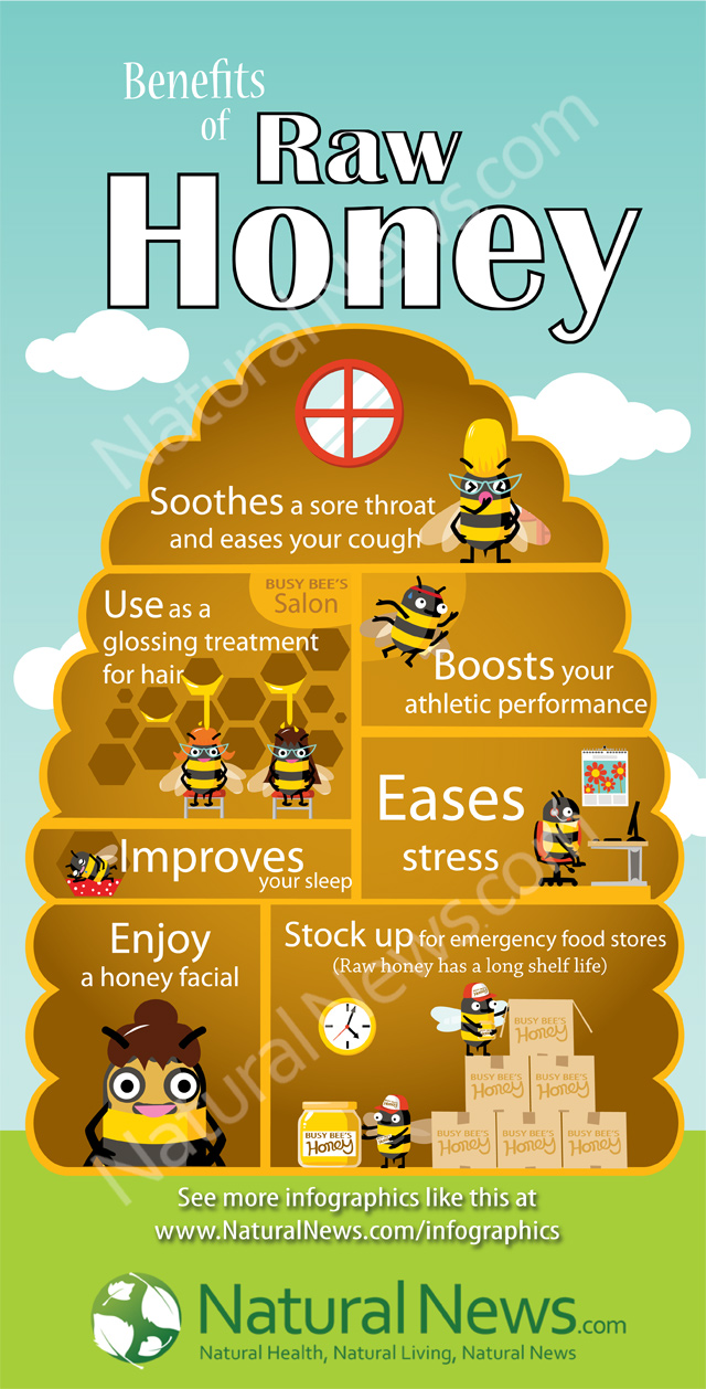 7 Amazing Benefits Of Raw Honey - Infographic