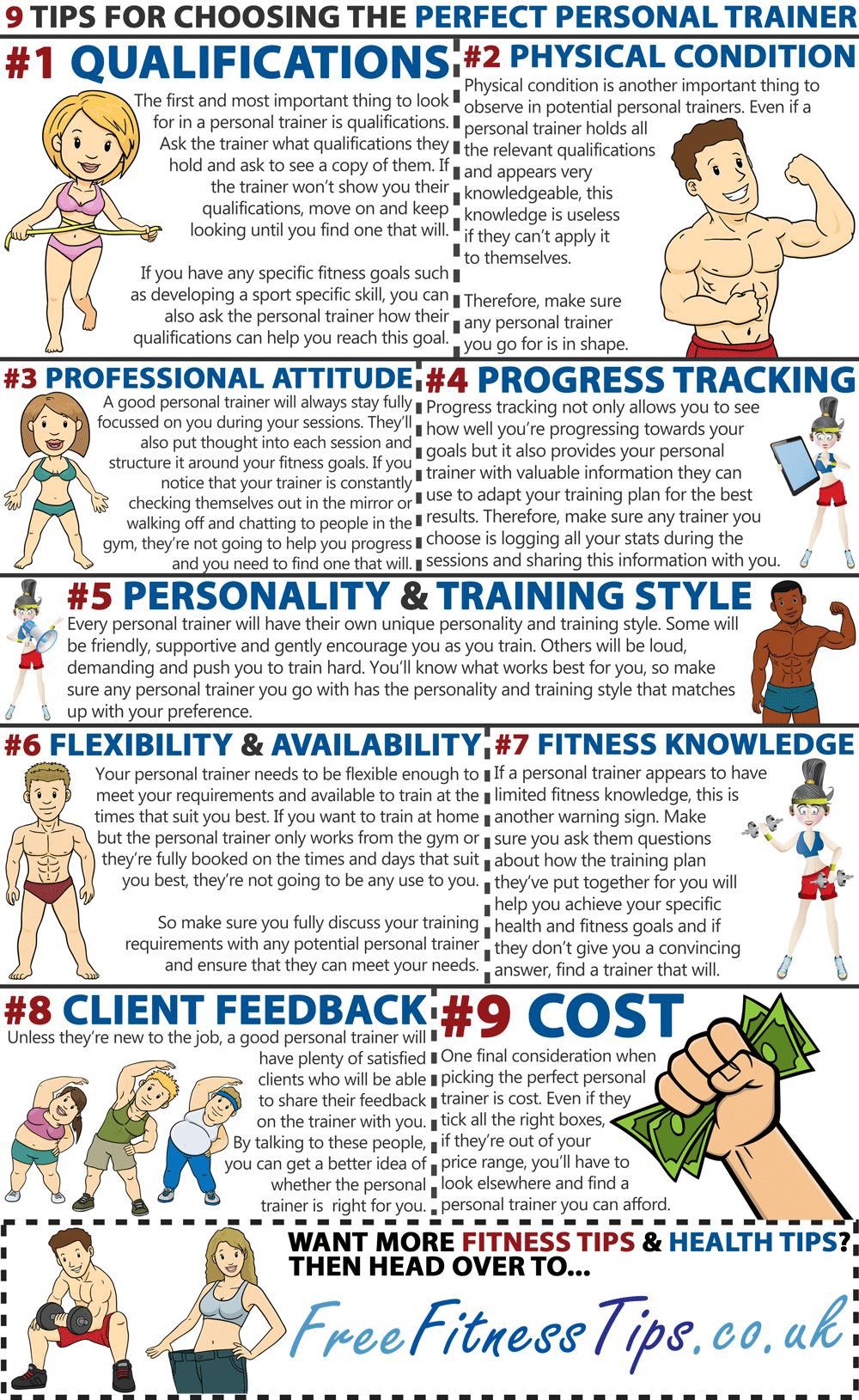 A Guide To Choosing The Perfect Personal Trainer - Infographic
