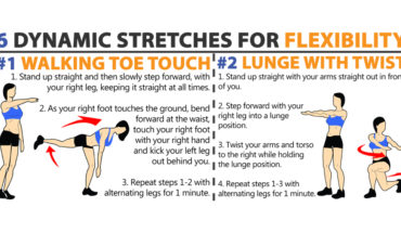 Achieving Flexibility Through 6 Stretches - Infographic