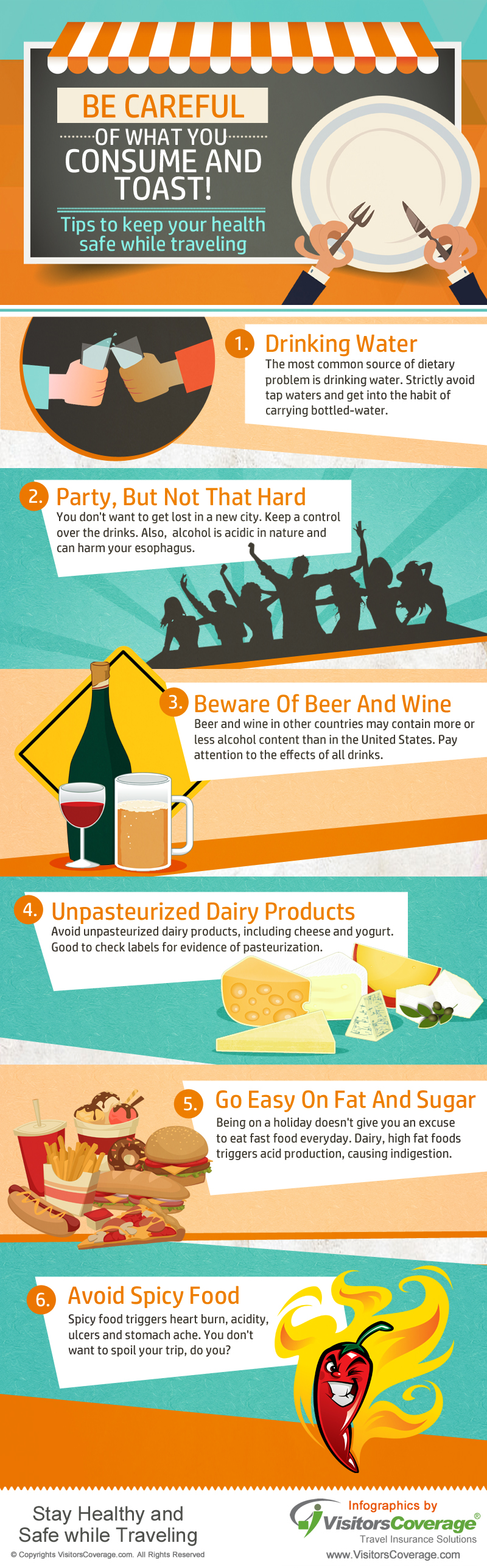 How To Stay Healthy While Traveling - Infographic