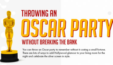 How To Throw An Amazing Oscar Party On A Low Budget - Infographic