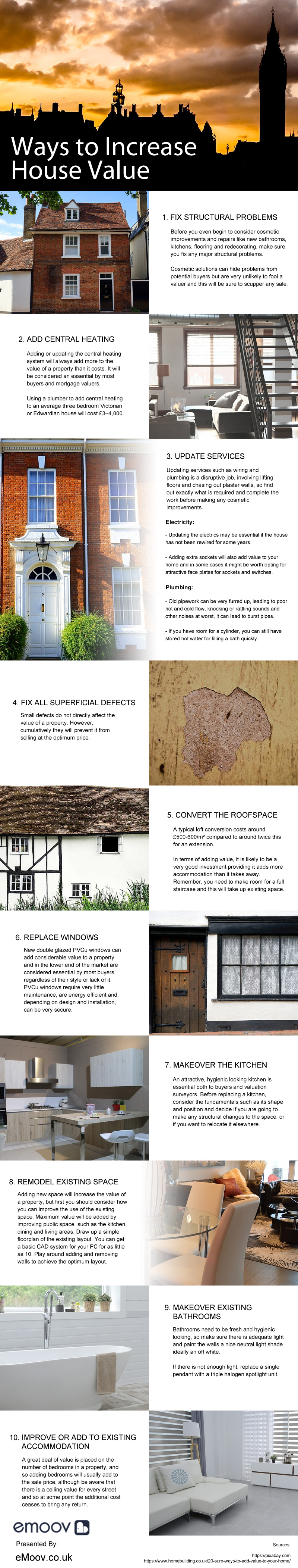 10 Steps To Increase Your House Value - Infographic