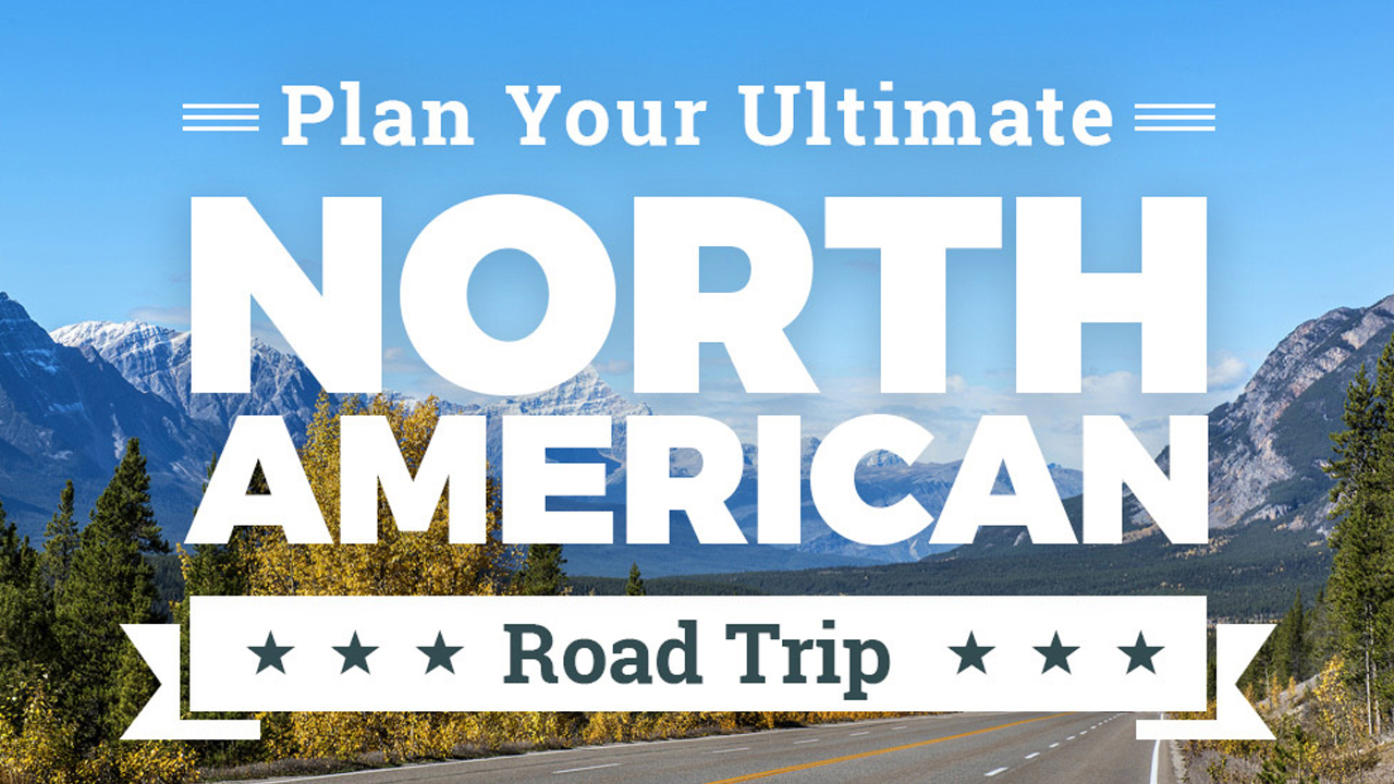 A Guide To The Ultimate North American Road Trip Infographic