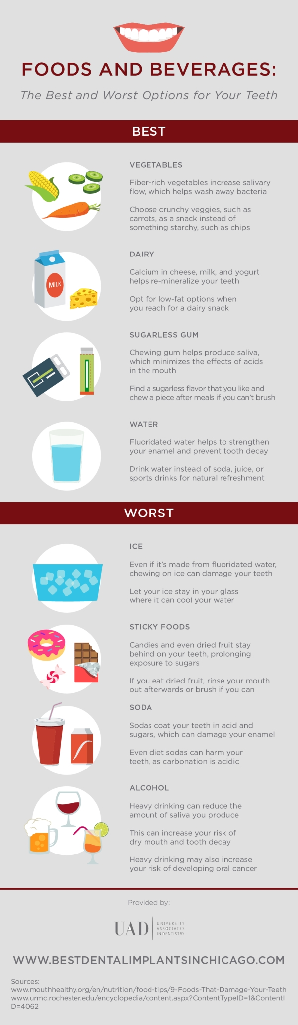 Foods and Beverages That Are Best Friends And Enemies Of Your Teeth - Infographic