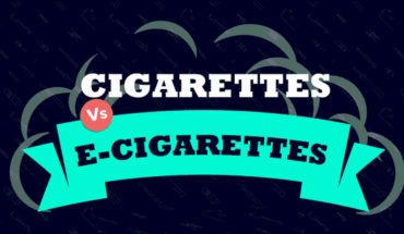 The Difference Between The Working Of An E-Cigarette And An Actual Cigarette - Infographic