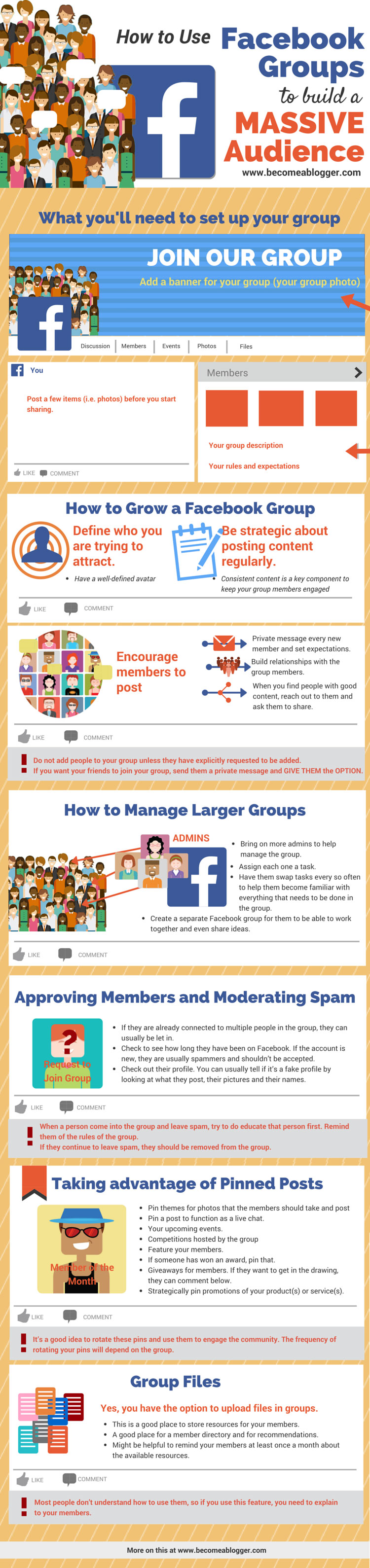 Building a Massive Audience Using Facebook Groups - Infographic