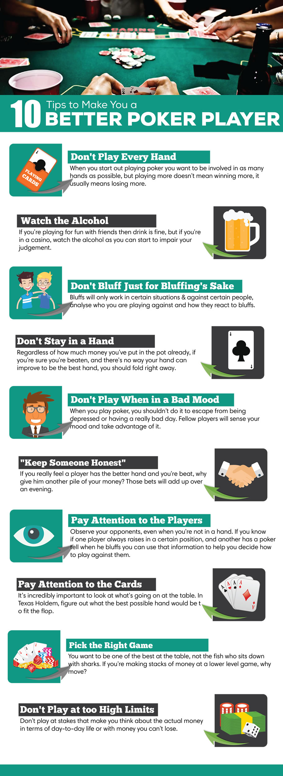 Poker Hacks - Infographic