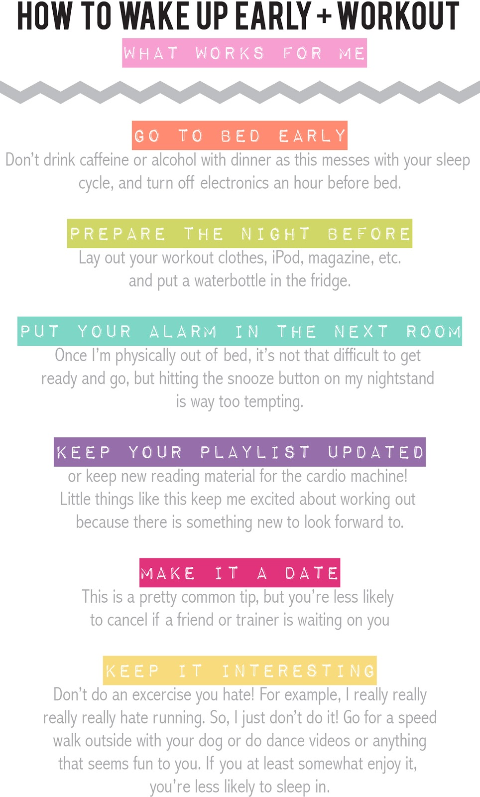 6 Tips For Getting Yourself To Wake Up Early And Workout - Infographic