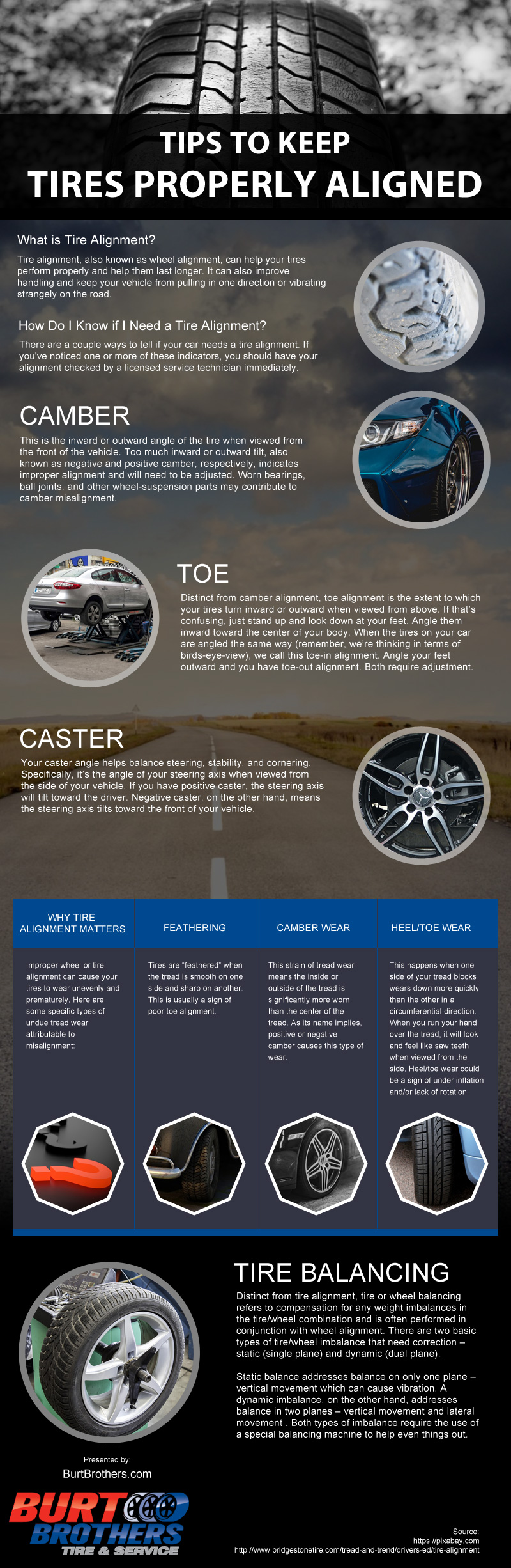 How To Keep Your Tires Properly Aligned - Infographic