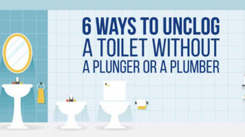 How To Unclog Toilets When You're Unequipped - Infographic