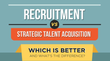 The Difference Between Strategic Talent Acquisition And Recruitment - Infographic