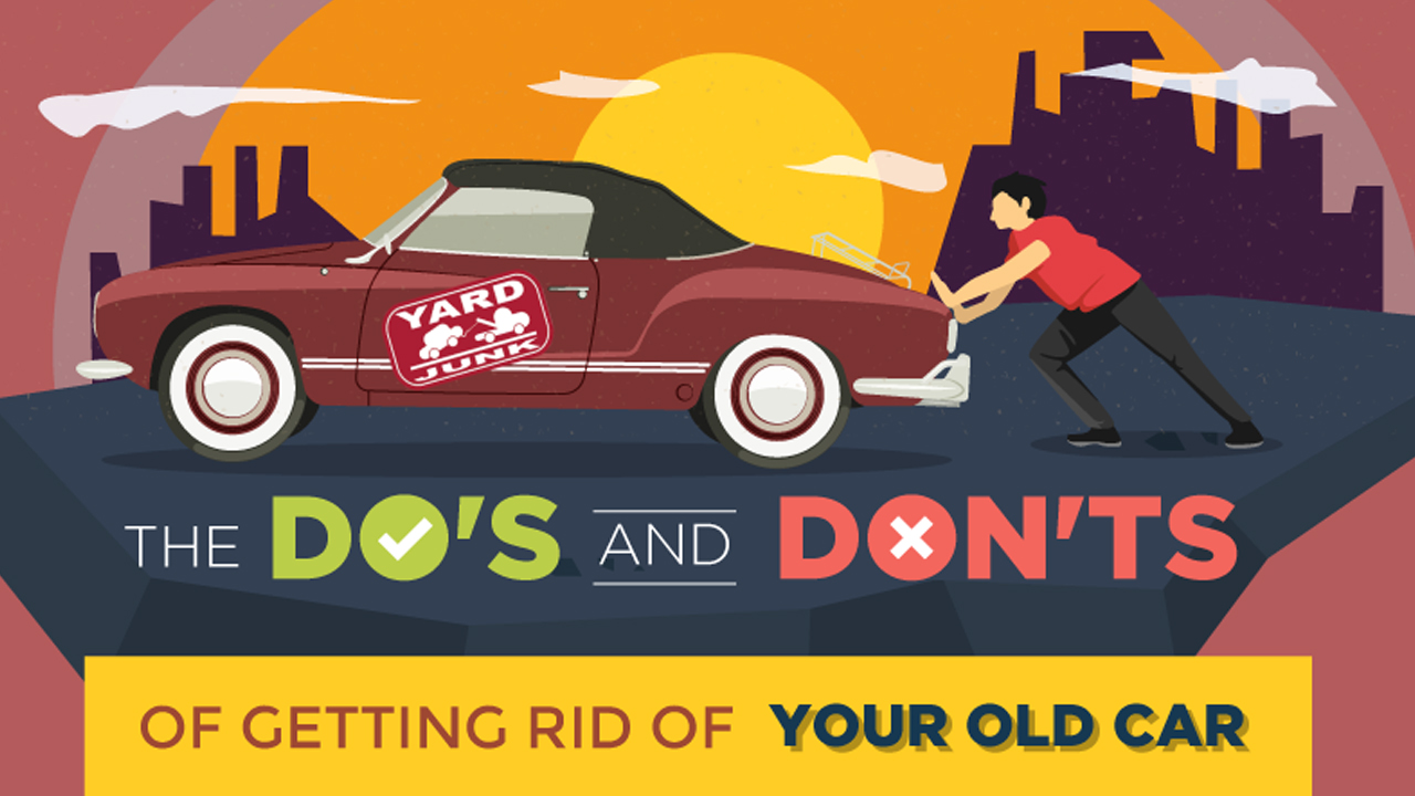 what you must keep in mind while getting rid of your old car infographic. Black Bedroom Furniture Sets. Home Design Ideas