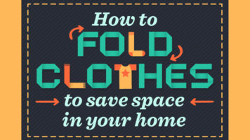 A Space-Saving Way Of Folding Clothes - Infographic