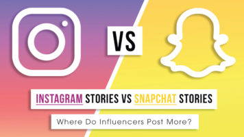 Instagram STORIES VS Snapchat STORIES - Infographic