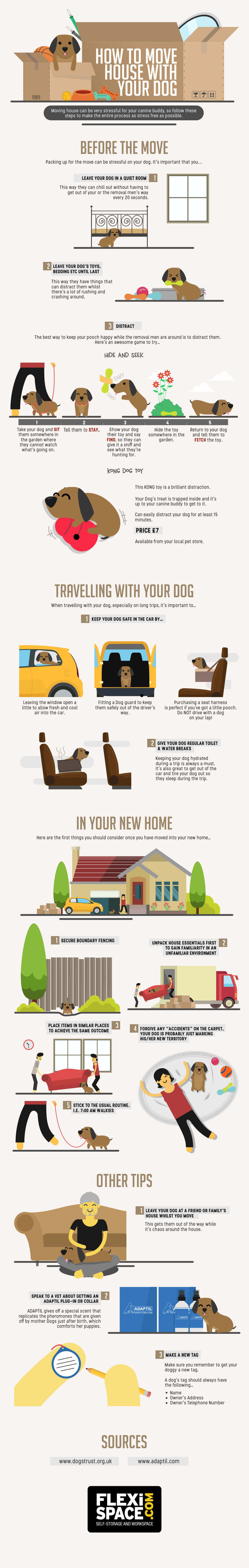 A Guide To Make It Easier For Your Dog To Move Houses - Infographic