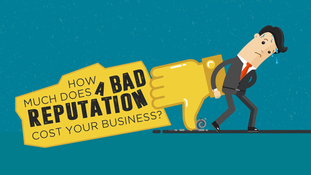 How Much A Bad Reputation Costs A Company Infographic