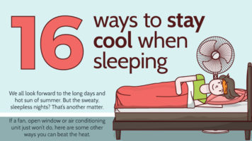 How To Sleep Comfortably And Coolly - Infographic