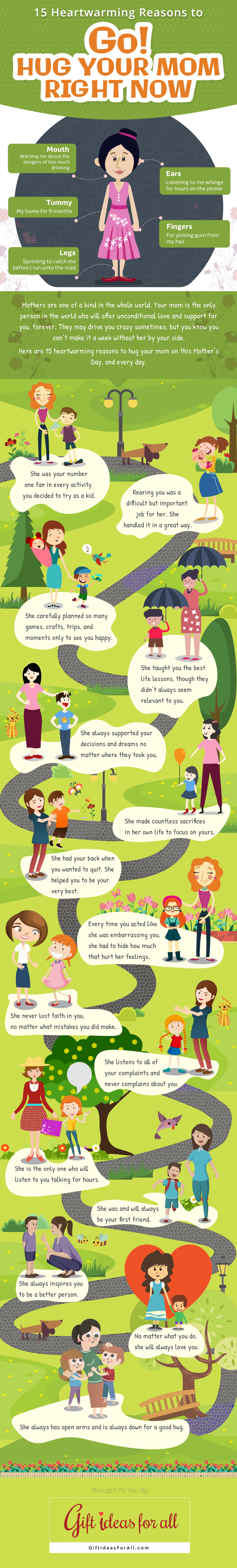 This Is Why You Must Hug Your Mom RIGHT NOW! - Infographic